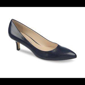 Franco Sarto Black Kitten Heel Pump NWOT 8M
